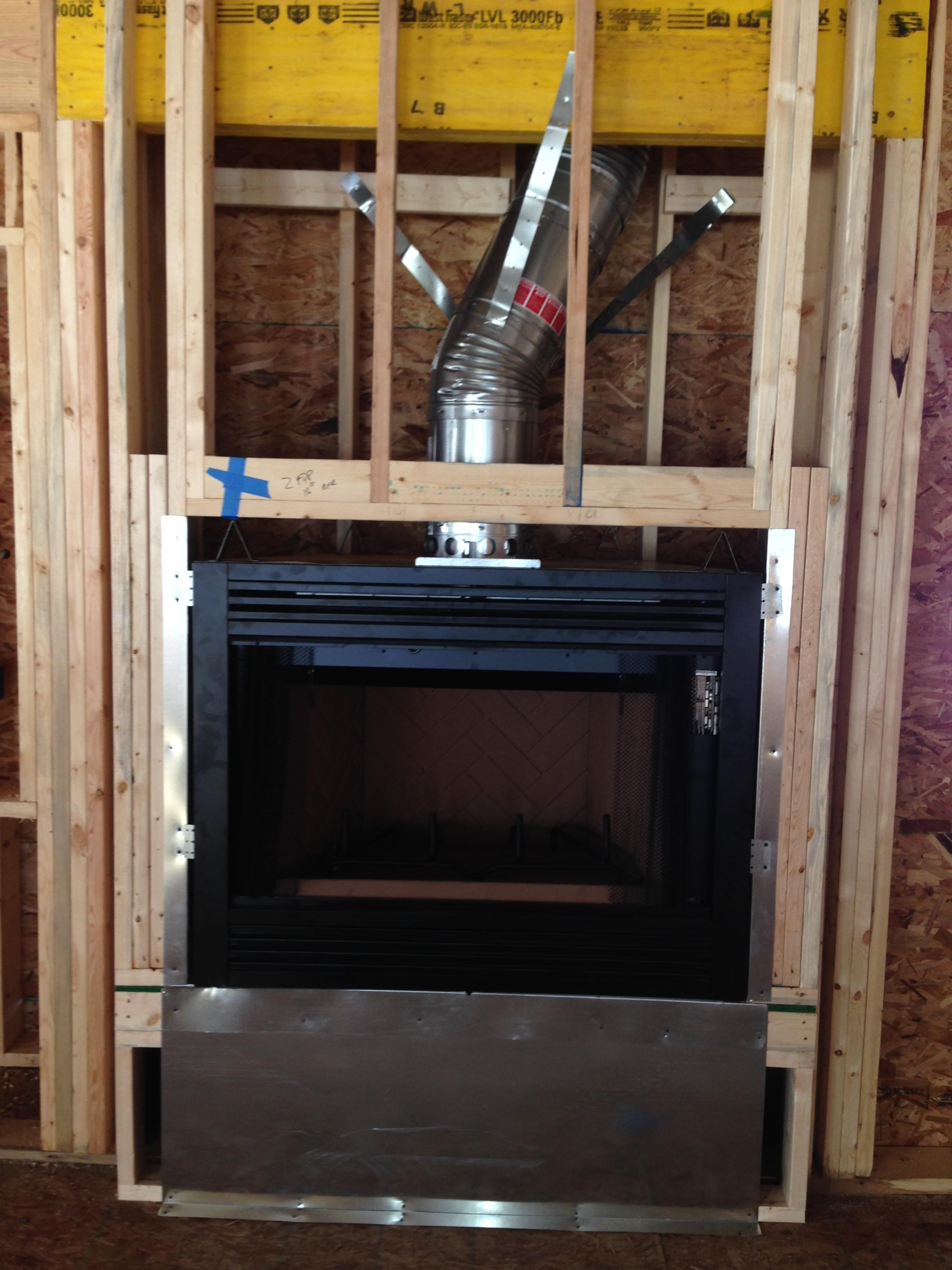 Installation images and photo gallery for all pro for New construction fireplace